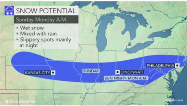 A look at the storm system that will affect the area overnight Sunday into Monday.