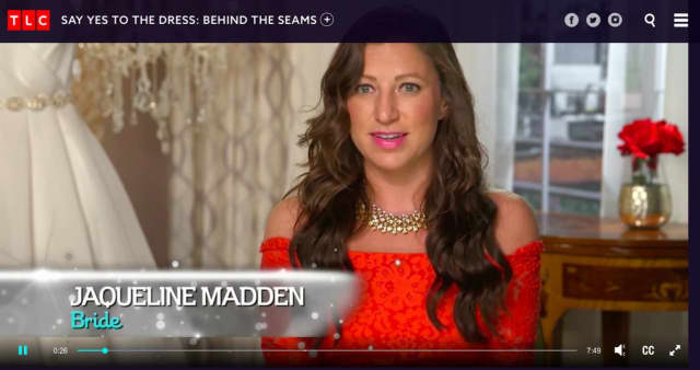 Jacqueline Madden of Mahwah and Wood-Ridge on TLC's Say Yes To The Dress.