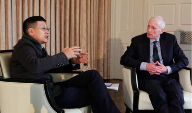 Yale alumnus Neil Shen spoke with Dean Edward A. Snyder at the Global Network for Advanced Management Fifth Anniversary Symposium in New Haven last April.