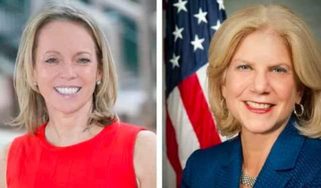 Republican Julie Killian and Democrat Shelley Mayer.
