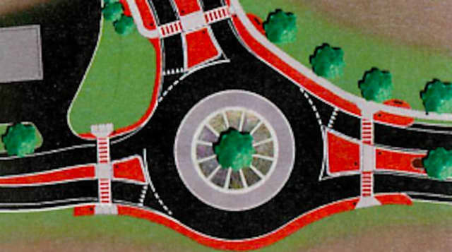 Example of a roundabout, which are becoming more common in the Hudson Valley.