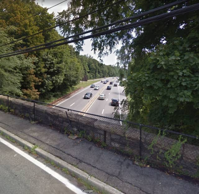 A box truck struck a bridge near Wilmot Road on the Hutchinson River Parkway.