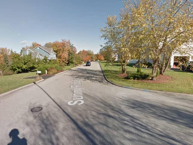 Sunny Ridge Road in Yorktown.