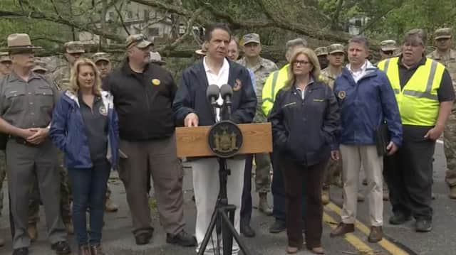 New York Gov. Andrew Cuomo at a recent news conference in Putnam declaring a State of Emergency.