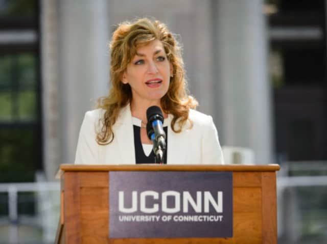 University of Connecticut President Susan Herbst announced on Monday that she will step down next year, at the end of her eight-year contract.
