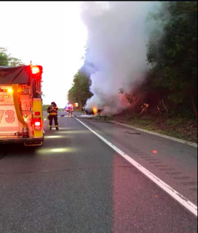 A look at the crash on the Taconic.