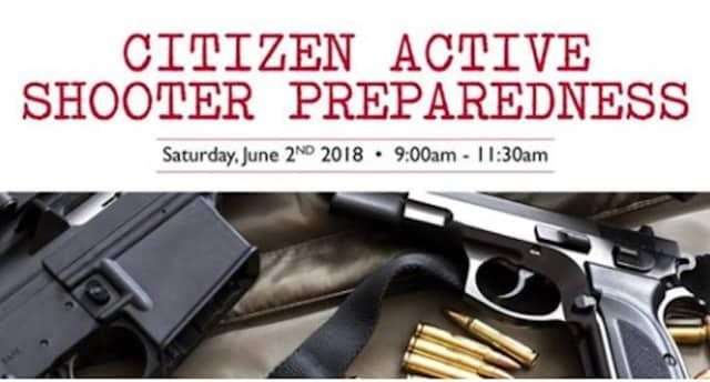 An active shooter preparedness seminar will be held June 2.