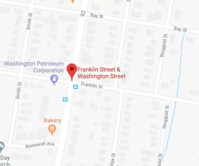 Peekskill police are searching for a black BMW in connection with a hit-and-run.