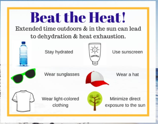Beat the heat tips.