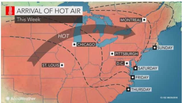 The first heat wave of the year is expected to start this weekend.
