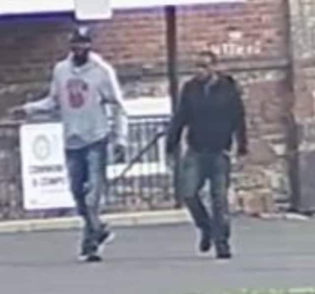 Two of the three suspects involved in an alleged armed robbery in Norwalk were caught on camera.