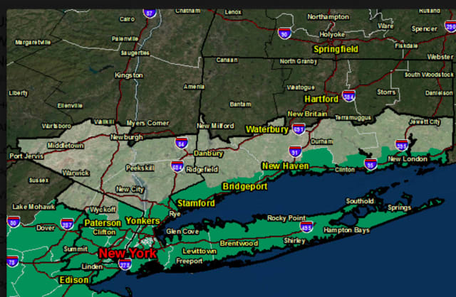 A Flash Flood Watch is in effect for southern-most parts of the area, including southern Westchester and coastal Fairfield County, overnight into Friday afternoon.