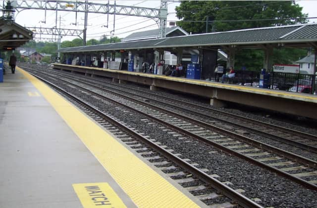A woman was killed after being hit by a train near the Milford Train Station.