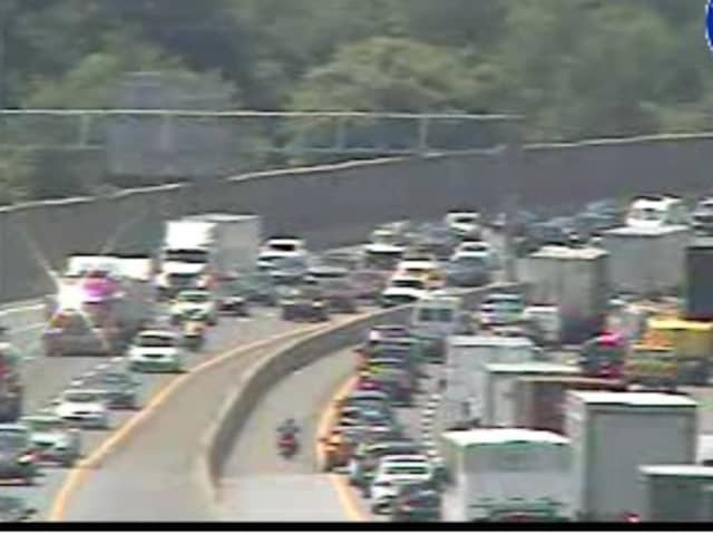 A look at gridlock on I-287 just before 1 p.m. Wednesday.