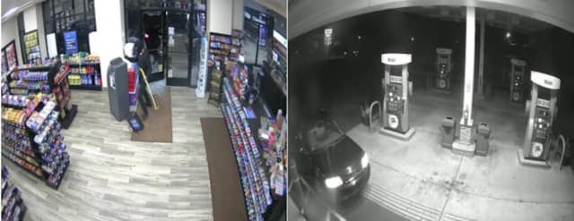 Two men stole an ATM machine from a local gas station.