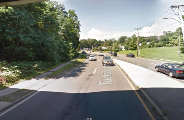 A body was found in a grassy area on Tuckahoe Road in Yonkers.