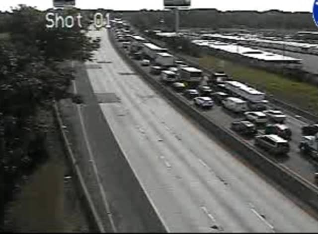 A look at delays on northbound I-95 at around 9 a.m. Monday.