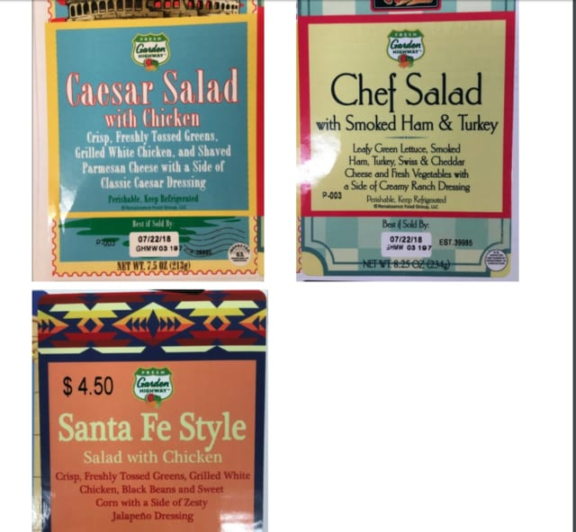 Some salad and wrap products from several large retailers, including Trader Joe's and Walgreens, have been recalled due to concerns of Cyclospora contamination, the U.S. Department of Agriculture announced.
