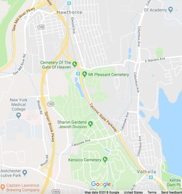 An Ossining resident was hit by a Metro-North train between Valhalla and Hawthorne.