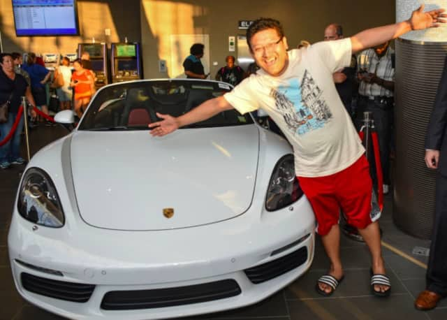 Sumeet G of Fair Lawn won a brand new Porsche Boxster from a Yonkers casino.