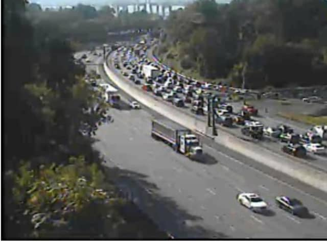 A look at Rockland-bound delays on I-87 at 5:20 p.m.