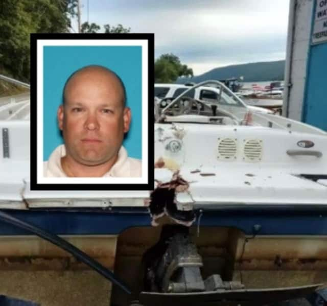 Shawn Kelly, 44 of Paramus (inset), was arrested in connection with a hit-and-run boat crash that left one person dead in 2016.