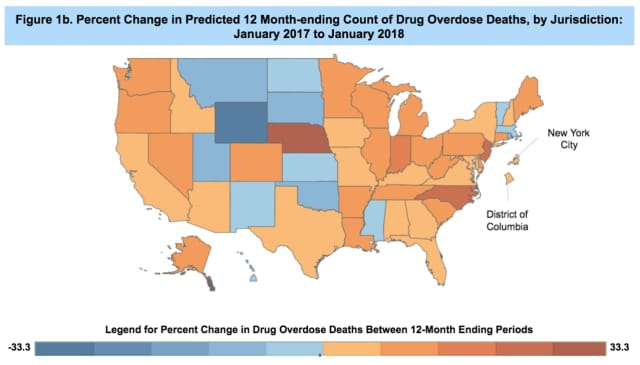 Opioid deaths in the country have reached a record high.