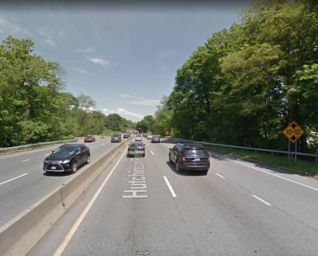 The Hutchinson River Parkway in Pelham.