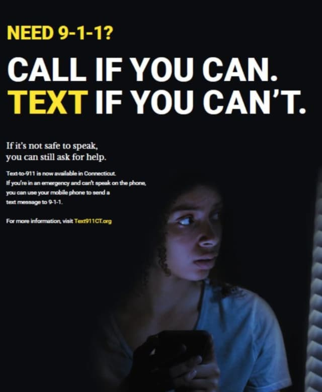 Connecticut residents can now text emergency situations to police.