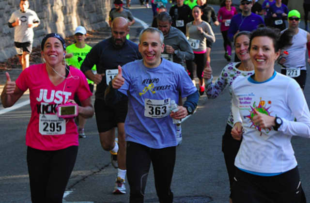 Participants at the 2017 Healing Half Marathon which runs along the Bronx River Parkway.