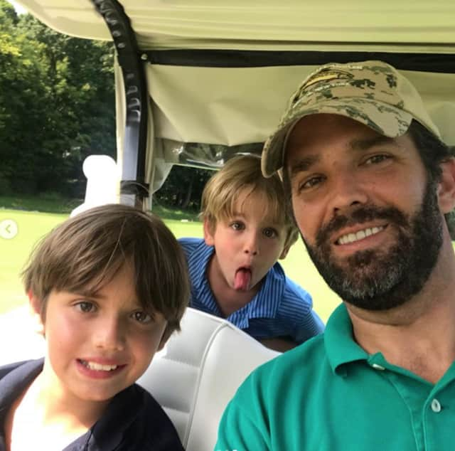 Donald Trump Jr. was in Westchester at Trump National in Briarcliff Manor last weekend and posted this and several other photos on social media.