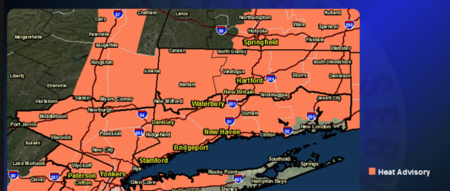 A Heat Advisory is in effect from noon Monday until 9 p.m. Tuesday.