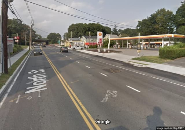 A Danbury man was injured when he was hit by a car.