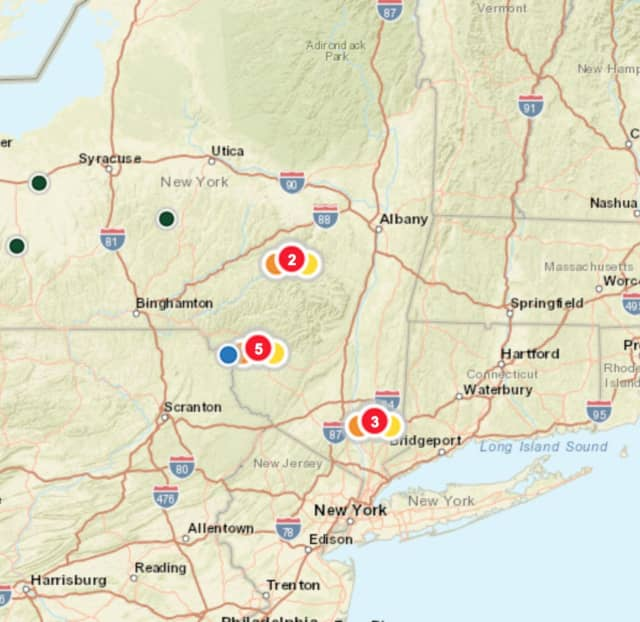 The NYSEG outage map.