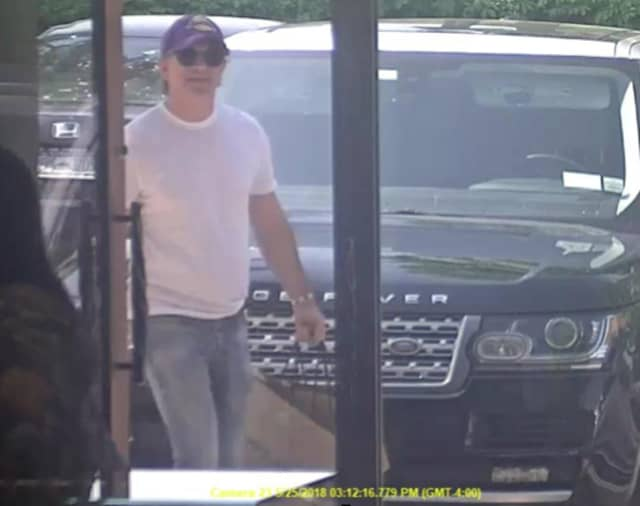 Pound Ridge police are asking for the public's help identifying the man pictured.