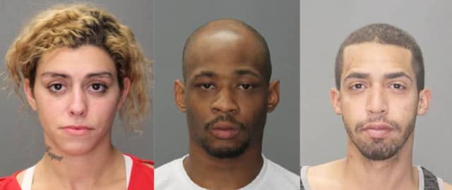 Left to right: Stephanie Reis, Raquan Brown, Raymond Rivera.