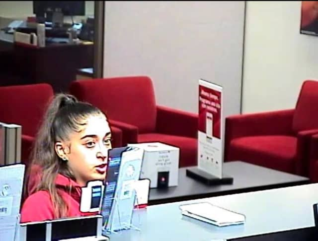 A look at the suspect seen picking up a wallet at the Bank of America on Post Road in Westport.