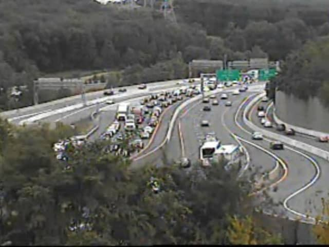 A look at gridlock on I-287 at I-684.