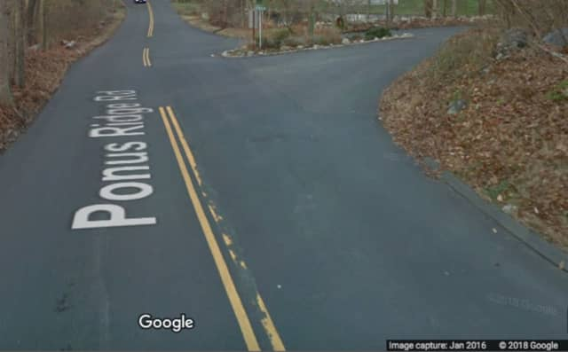 Ponus Ridge Road in New Canaan.