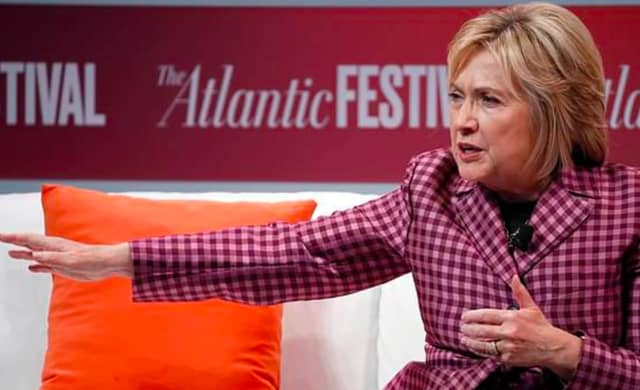 Hillary Clinton of Chappaqua slammed President Trump at the Atlantic Events Festival.
