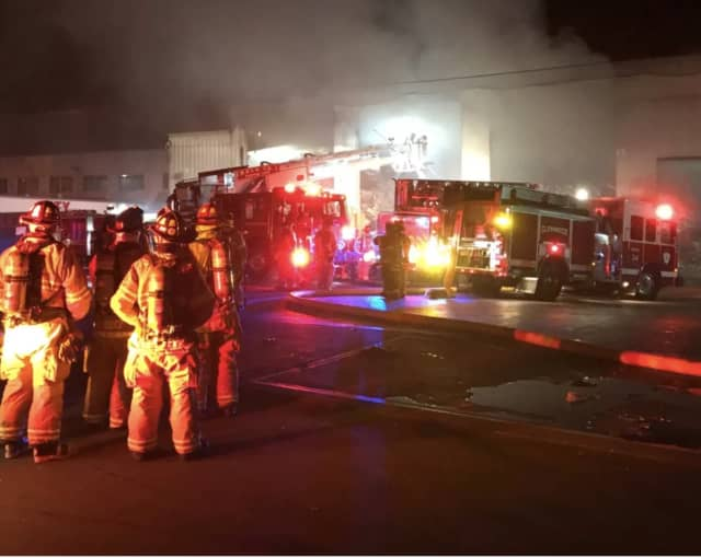 Firefighters were able to quickly douse a large blaze at a city recycling center.