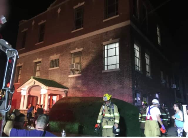 Stamford firefighters were able to contain a fire to the basement area of an industrial building.