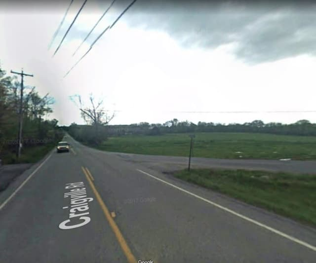 Craigsville Road at the intersection of Hasbrouck Road in Goshen.
