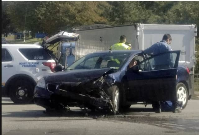 A police chase and crash has closed a major Westchester roadway.