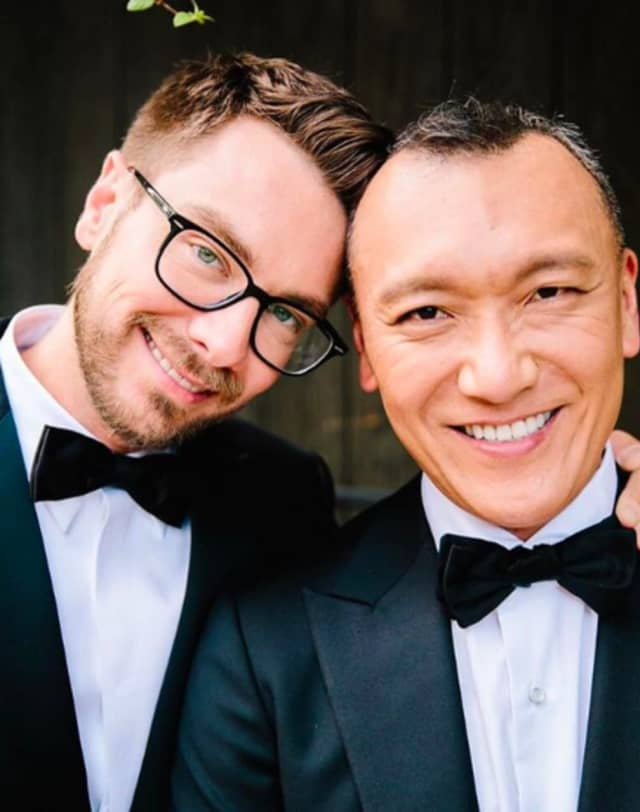 Rob Younkers and Joe Zee tied the knot at Tarrytown's Blue Hill at Stone Barns Oct. 5.