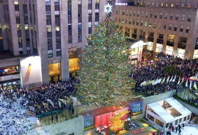 The 2015 Rockefeller Center Christmas tree, shown above, also came from the Hudson Valley: Gardiner in Ulster County.