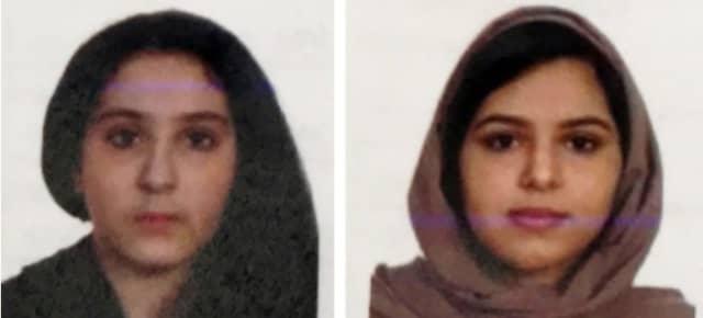 Tala Farea, left, and Rotana Farea