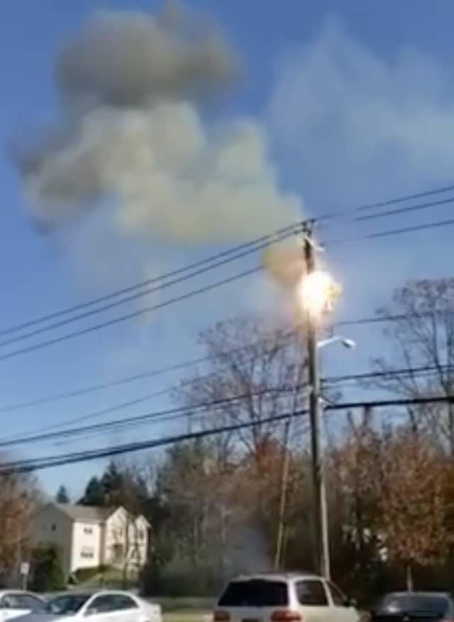 A transformer fire.