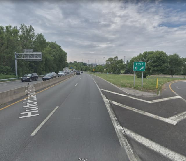 The Hutchinson River Parkway near Sandford Boulevard in Mount Vernon.