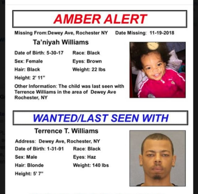 Ny Amber Alert For 16 Month Old Girl Canceled Mount Pleasant Daily Voice